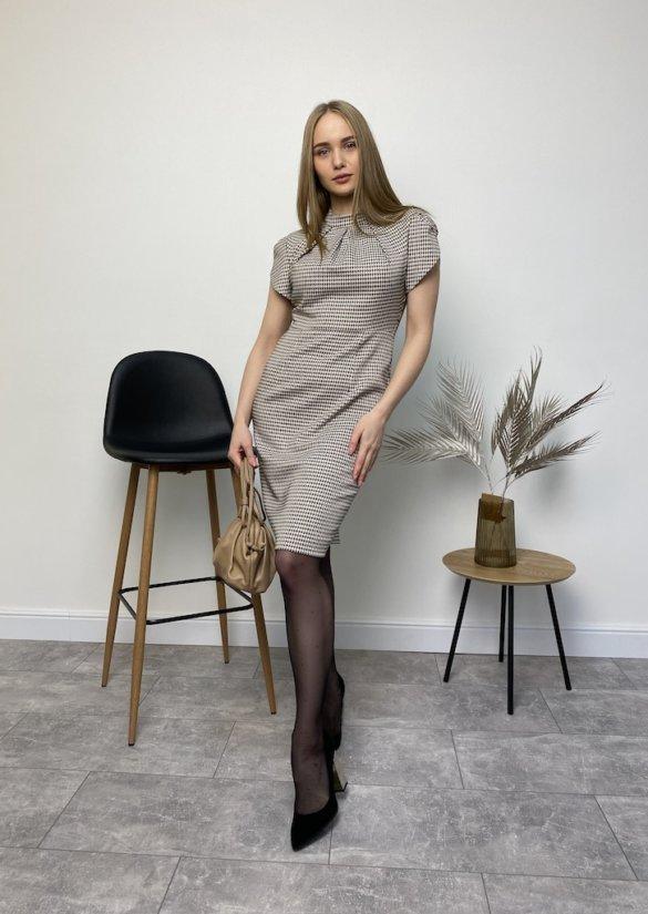 Платье в мелкую гусиную лапку