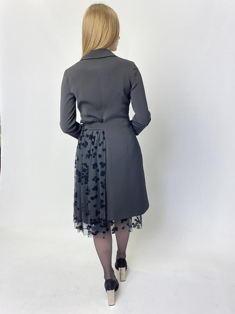 Платье чёрное на запах